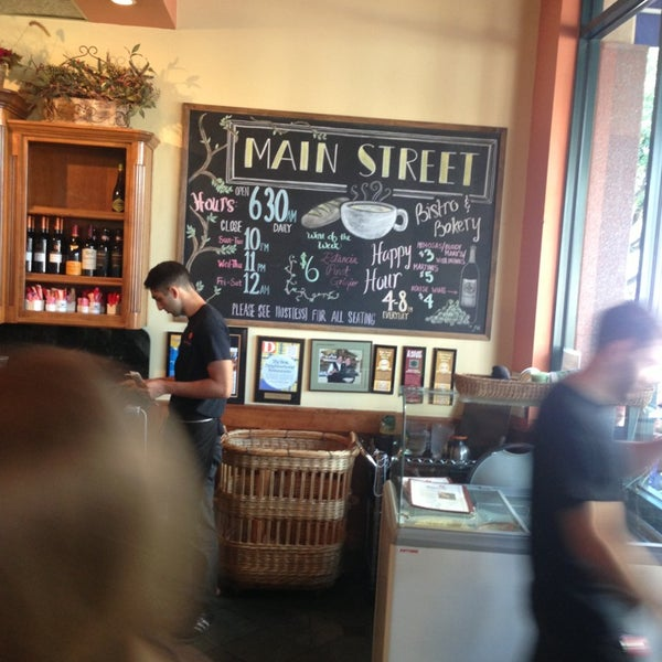 Photo taken at Main Street Bistro and Bakery by George A. on 7/28/2013