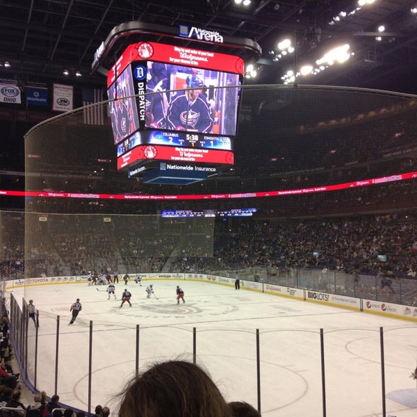 Photo taken at Nationwide Arena by Zane S. on 3/6/2013