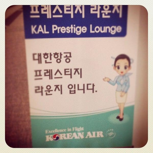 Photo taken at Korean Air Lounge by Peter H. on 12/4/2011