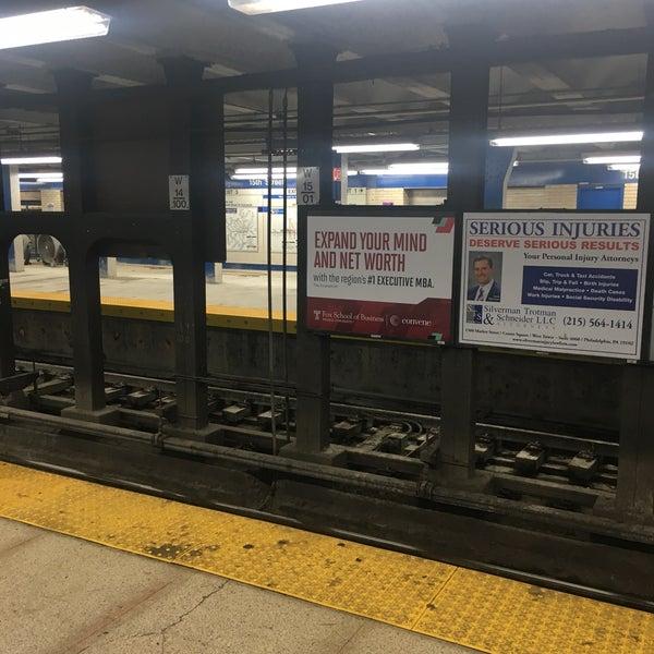 Photo taken at SEPTA MFL/TRL 15th Street Station by Charles M. on 6/25/2017