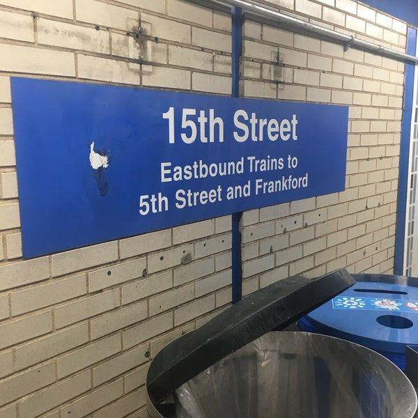 Photo taken at SEPTA MFL/TRL 15th Street Station by Charles M. on 5/10/2017