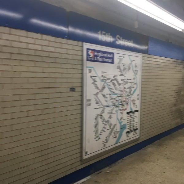 Photo taken at SEPTA MFL/TRL 15th Street Station by Charles M. on 6/19/2017