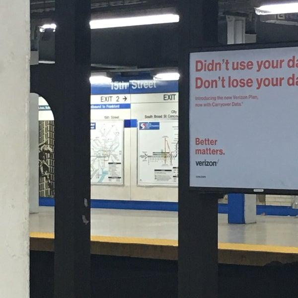 Photo taken at SEPTA MFL/TRL 15th Street Station by Charles M. on 10/16/2016
