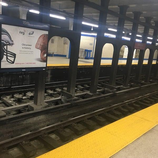 Photo taken at SEPTA MFL/TRL 15th Street Station by Charles M. on 3/10/2017