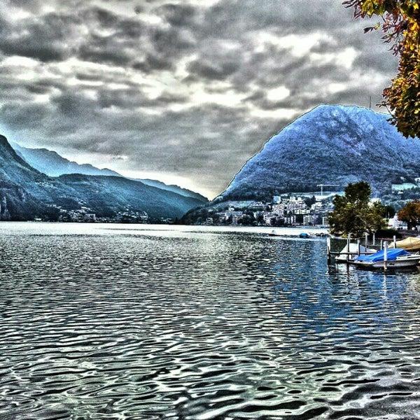 Photo taken at Lago di Lugano by Otari A. on 1/19/2013