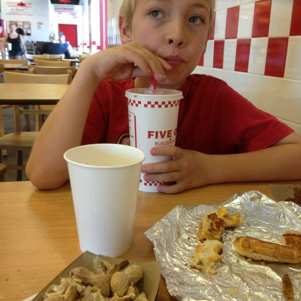 Photo taken at Five Guys by Jim W. on 5/12/2013