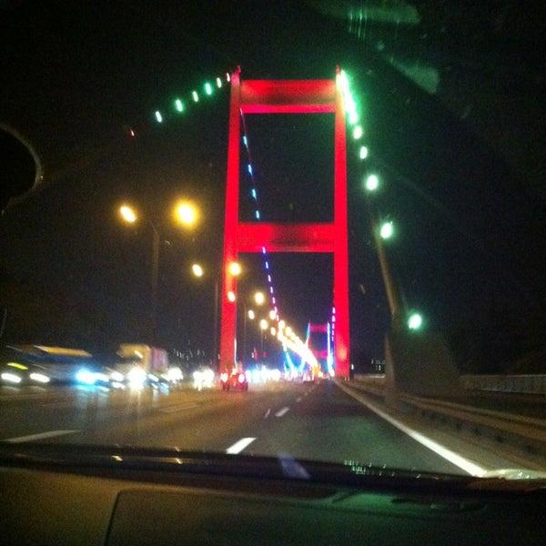 Photo taken at Fatih Sultan Mehmet Bridge by Tijen K. on 7/27/2013