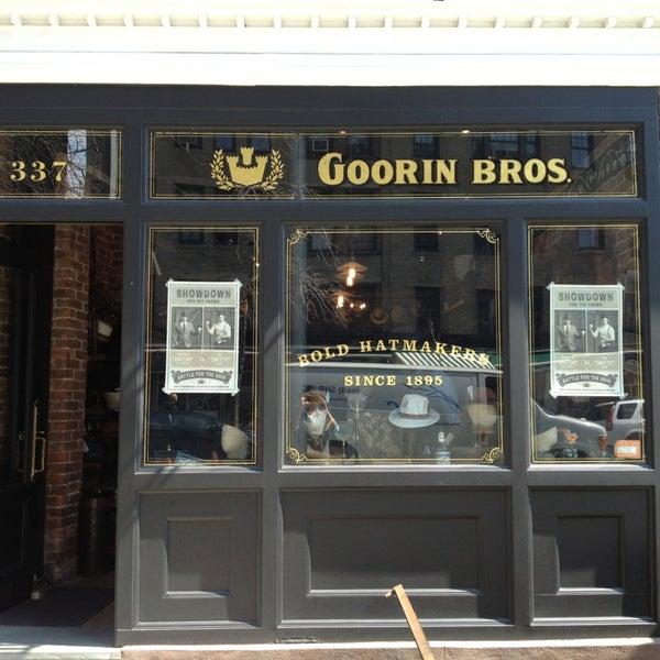 Снимок сделан в Goorin Bros. Hat Shop - West Village пользователем Garrett H. 4/1/2013