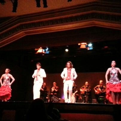 Photo taken at Palacio del Flamenco by Büşra E. on 1/31/2013