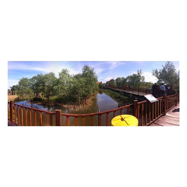 Photo taken at Ekowisata Mangrove by Intan M S. on 3/31/2014