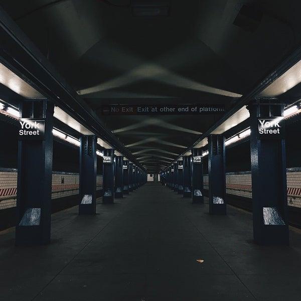Photo taken at MTA Subway - York St (F) by Paul Travis K. on 4/23/2015