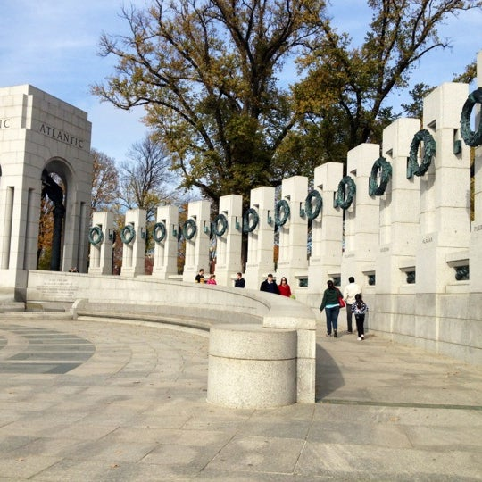 Photo taken at World War II Memorial by Ashley W. on 11/18/2012