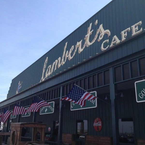 Photo taken at Lambert's Cafe by Ken G. on 3/12/2013