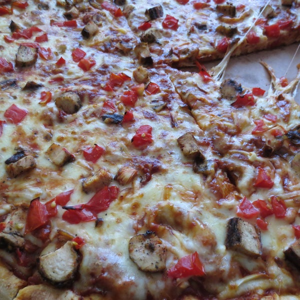 The Smokin' Chicken is pretty good.  This is still the only American style pizza there is in Tbilisi.