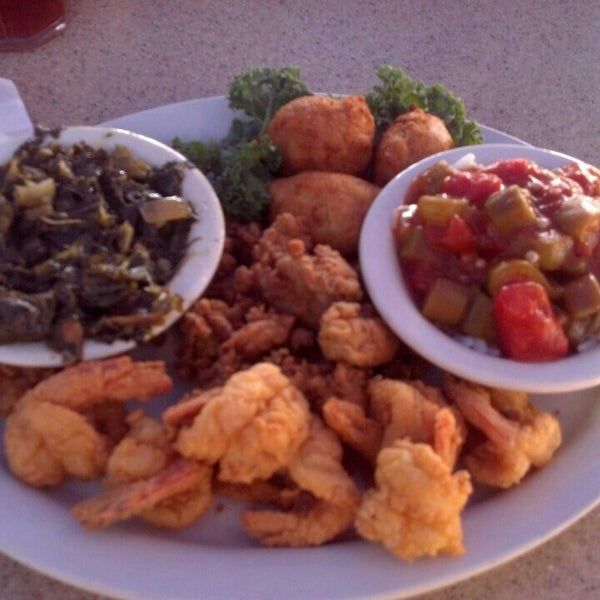 The fried oysters and shrimp were awesome!  The service was a little slow.