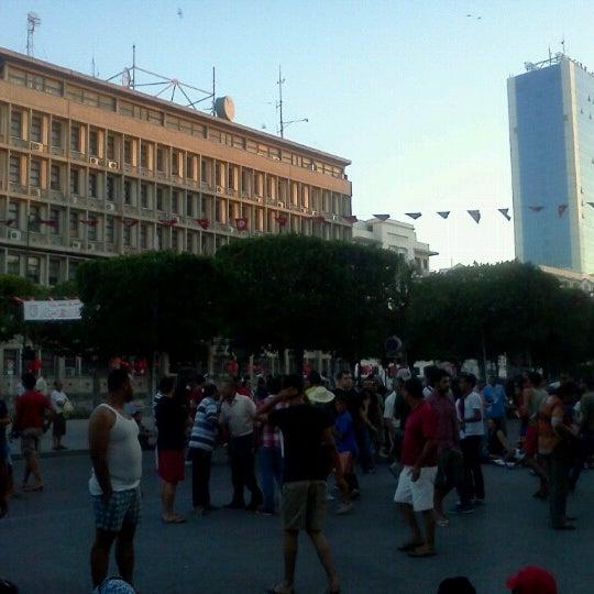Photo taken at Avenue Habib Bourguiba by Anouar B. on 7/25/2013