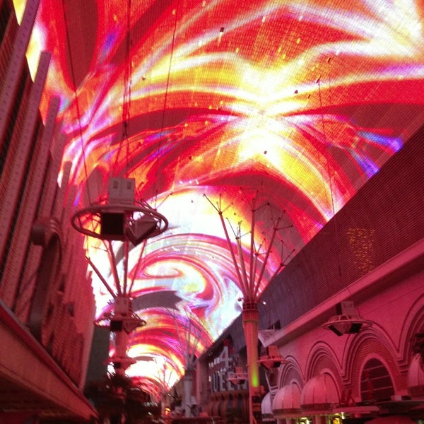 Photo taken at Fremont Street Experience by Gay C. on 4/4/2013