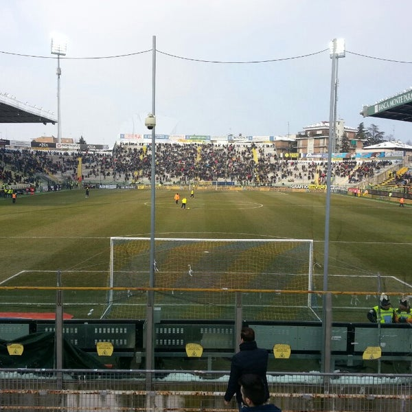 Photo taken at Stadio Ennio Tardini by Vincenzo B. on 2/24/2013
