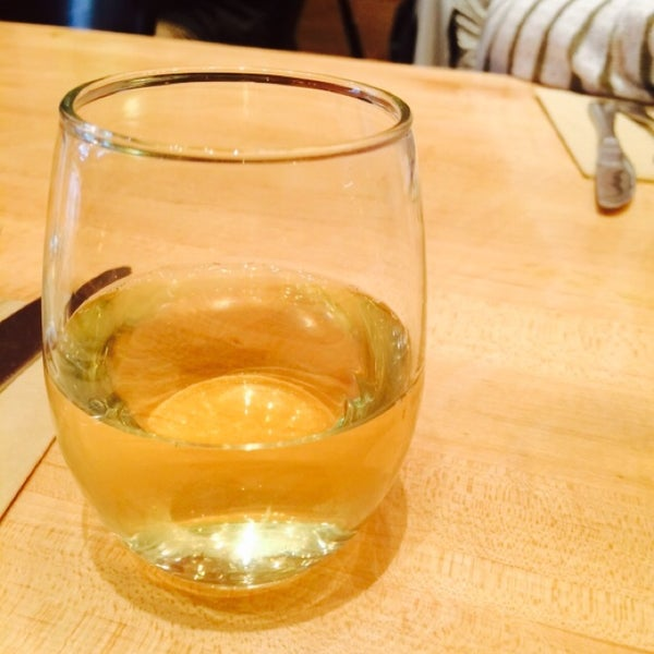 The world's smallest glass of wine?  The Chardonnay is crisp & fruity. $7