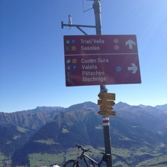 Photo taken at Piz Mundaun by Matthias M. on 9/21/2012