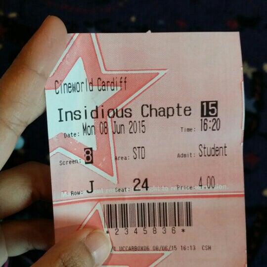 Photo taken at Cineworld by Nadia Z. on 6/8/2015