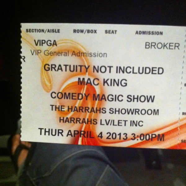 Photo taken at The Mac King Comedy Magic Show by Jerome W. on 4/4/2013