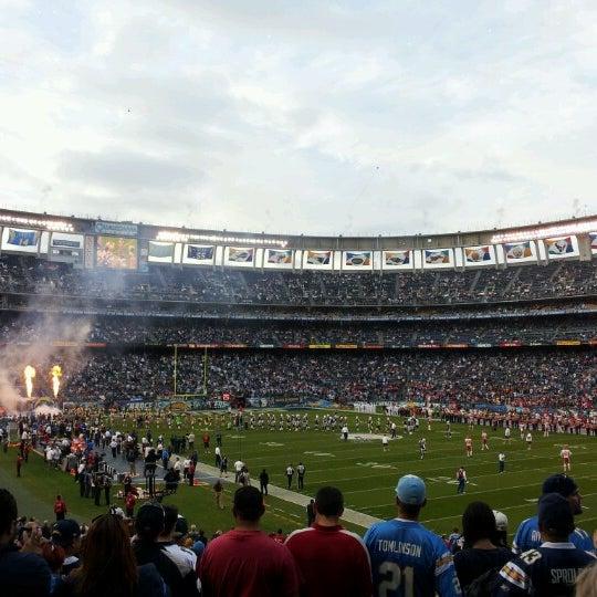 Photo taken at Qualcomm Stadium by TheOne0351 M. on 11/2/2012