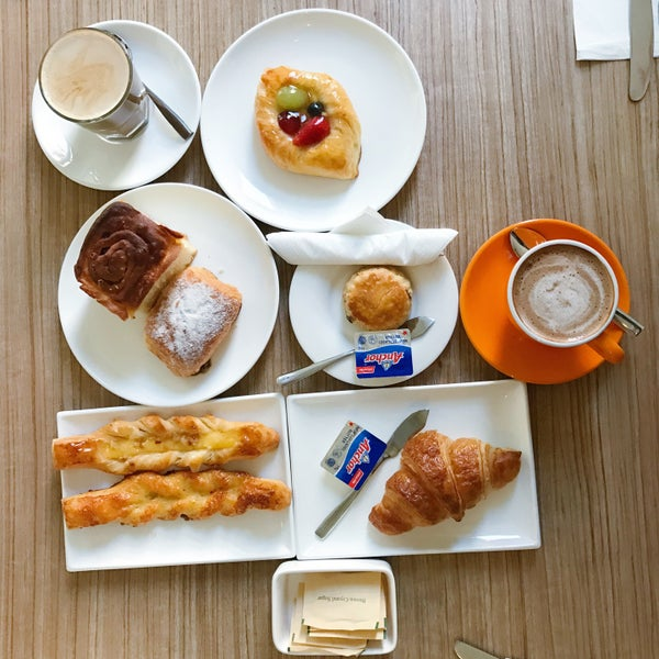 Good environment,and I think the pastries and breads are better choice for breakfast.The coffee is very bad,the worst that I had. Food is expensive.