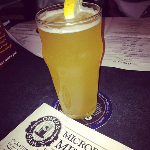 Photo taken at Obed & Isaac's Microbrewery and Eatery by laura on 10/14/2012