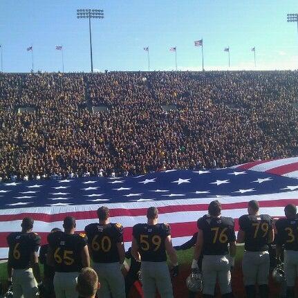 Photo taken at Kinnick Stadium by Austin K. on 11/10/2012