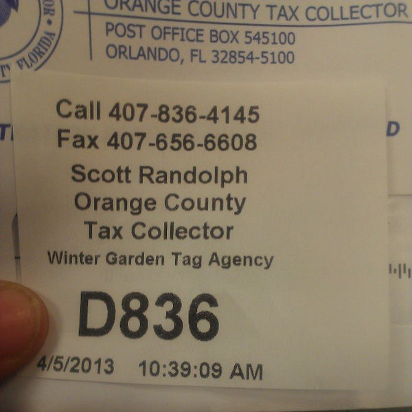 Orange County Tax Collector Government Building In