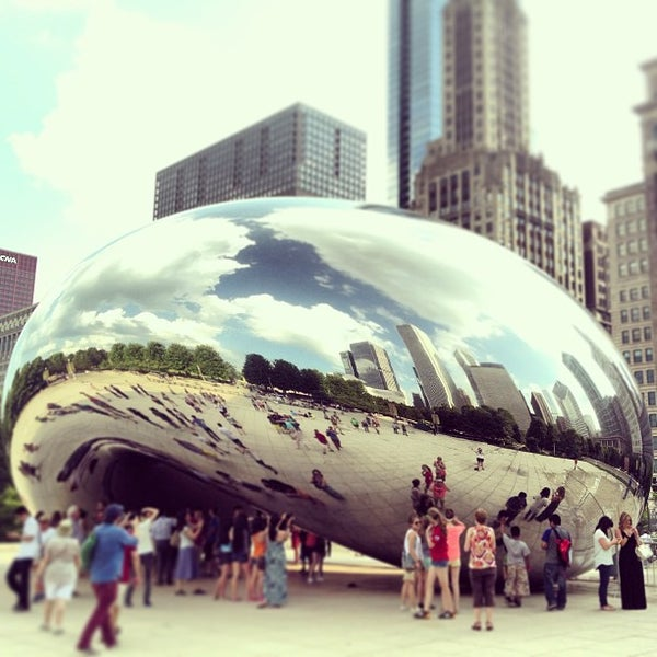 Photo taken at Cloud Gate by Anish Kapoor by Patrick F. on 7/17/2013