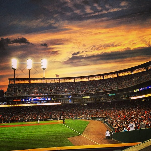 Photo taken at Comerica Park by Evelyn S. on 6/18/2013