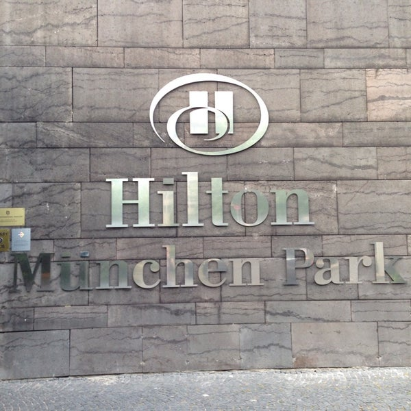 Photo taken at Hilton Munich Park by Vasiliscus on 6/15/2014
