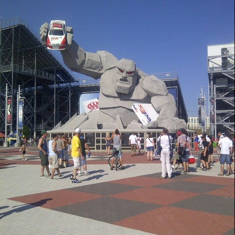 Photo taken at Dover International Speedway by Heather on 6/2/2013
