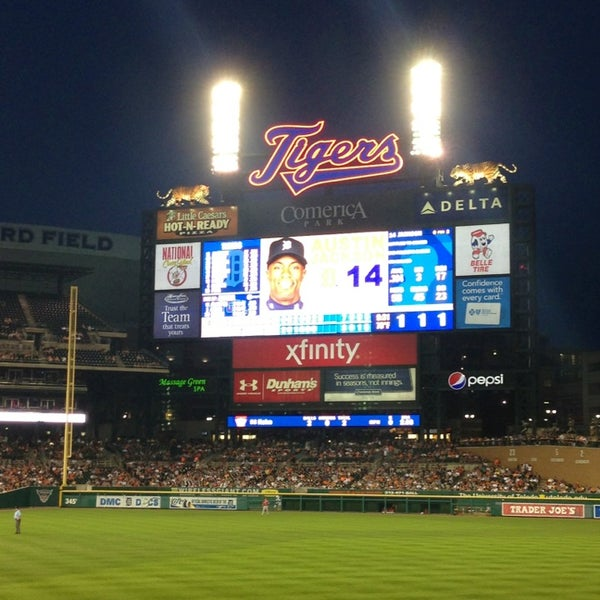 Photo taken at Comerica Park by Francesca C. on 6/27/2013