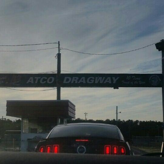 Photo taken at Atco Raceway by Julie M. on 4/19/2016