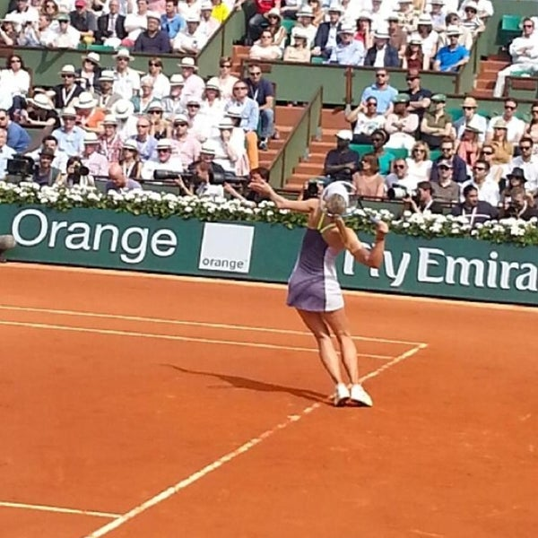 Photo taken at Stade Roland Garros by Antonello D. on 6/9/2013