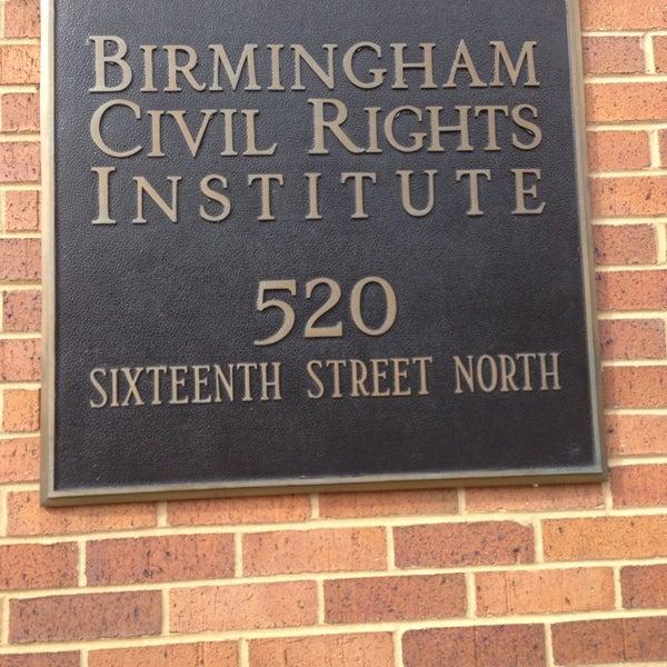 Photo taken at Birmingham Civil Rights Institute by Tahmina N. on 3/22/2014