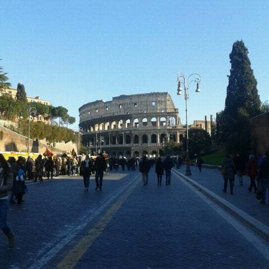 Photo taken at Piazza del Colosseo by Ale P. on 2/10/2013