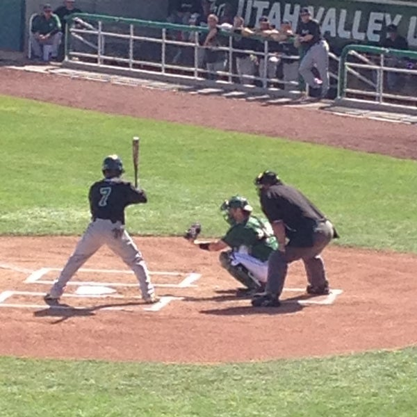 Photo taken at Brent Brown Ballpark by Julee K. on 4/27/2013