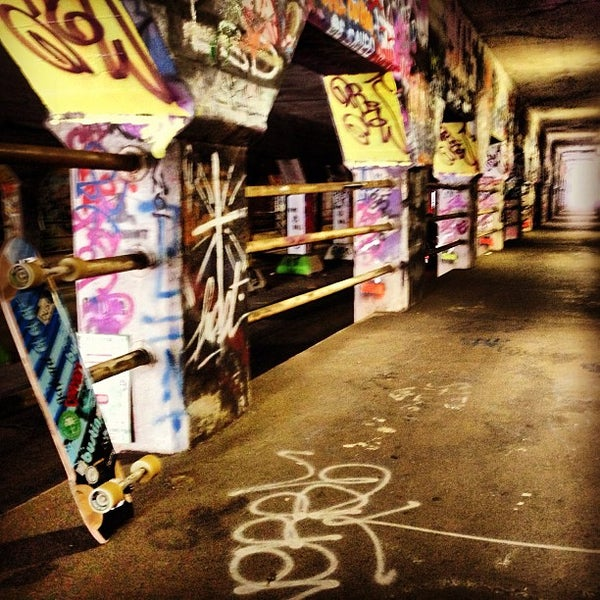 Photo taken at Krog Street Tunnel by Miguel H. on 5/31/2013