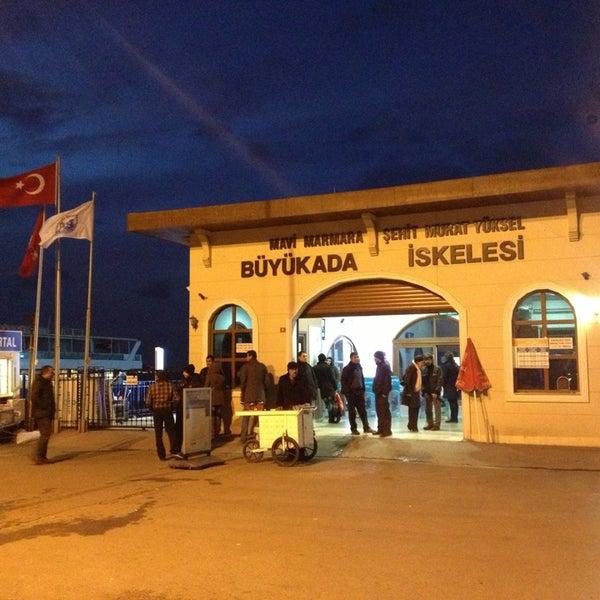 Photo taken at Büyükada Mavi Marmara Motor İskelesi by Dmitry N. on 1/6/2013