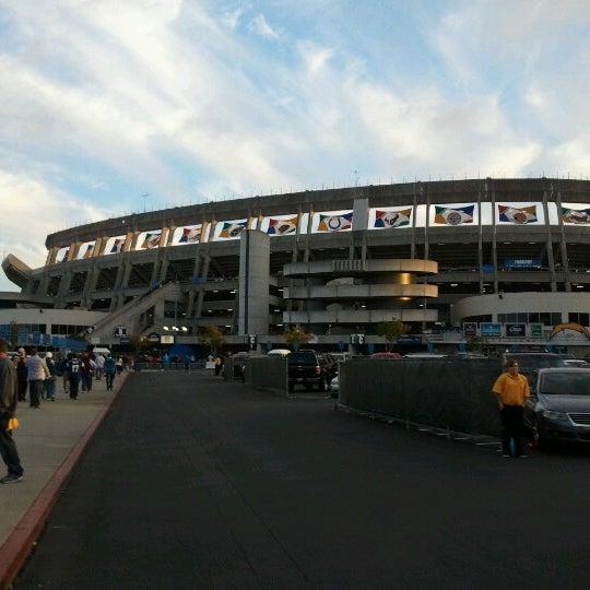Photo taken at Qualcomm Stadium by Scott P. on 11/2/2012