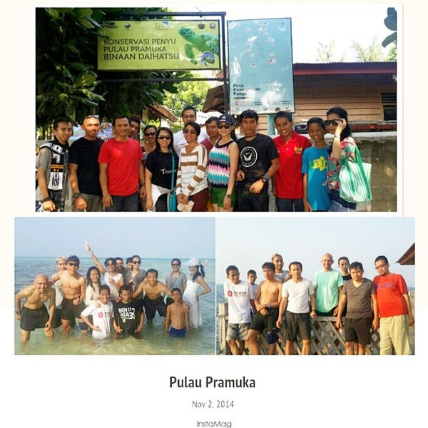 Photo taken at Pulau Pramuka by Irwin N. on 11/2/2014