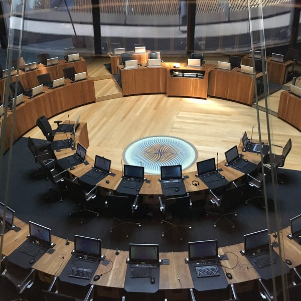 Photo taken at The National Assembly for Wales by Ivan V. on 3/5/2017