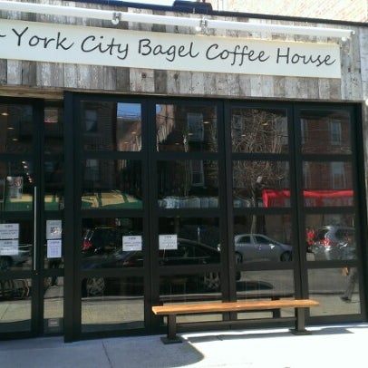 Photo taken at New York City Bagel & Coffee House by Andrew on 3/24/2013