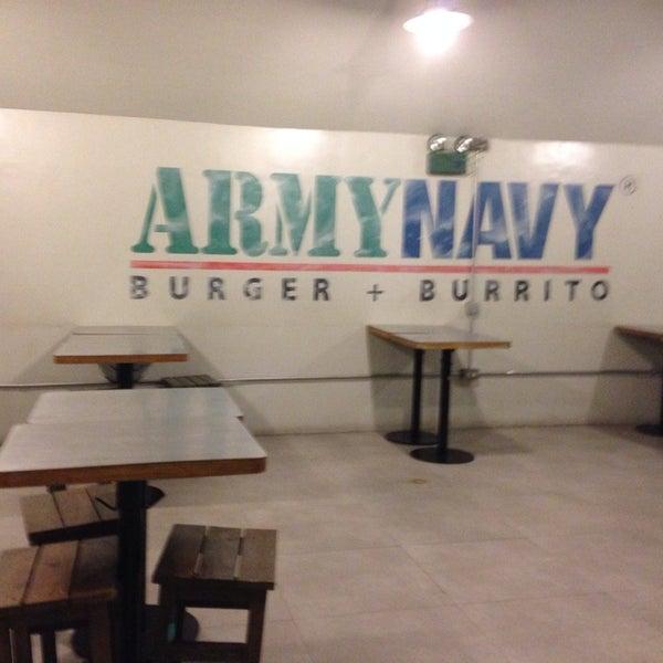 Photo taken at Army Navy Burger + Burrito by K Sha B. on 3/15/2014