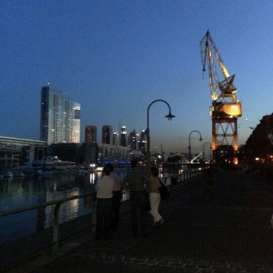 Photo taken at Puerto Madero by Josefina N. on 11/7/2012