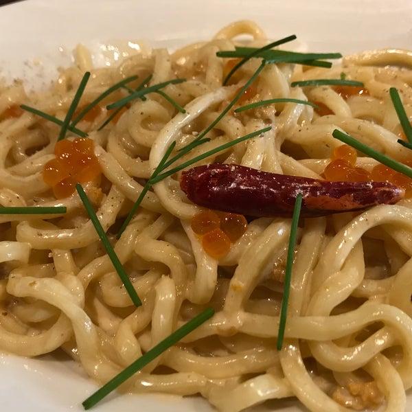 Das Foto wurde bei cucina italiana aria von Hiromune S. am 3/2/2018 aufgenommen
